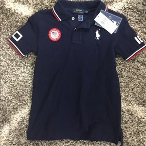 Boys Ralph Lauren USA Olympic shirt